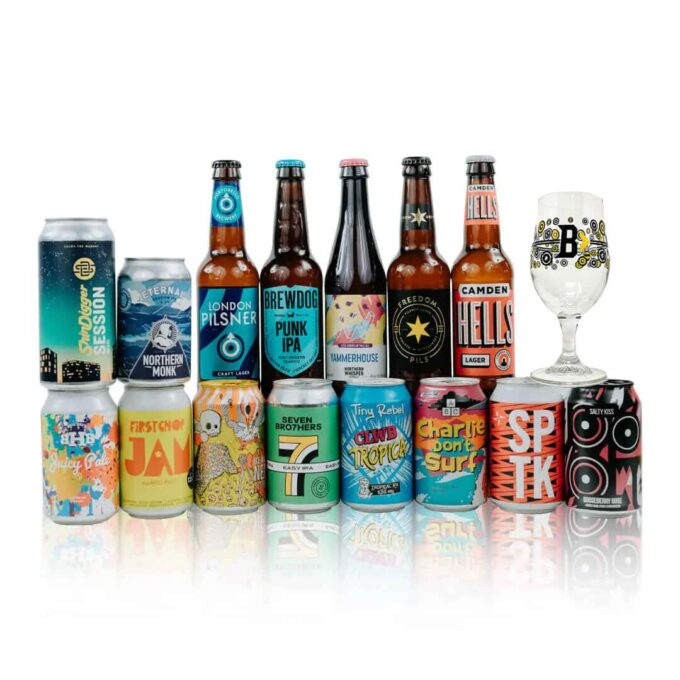 Great British Craft Beer Mixed Case with Glass (15 Pack)