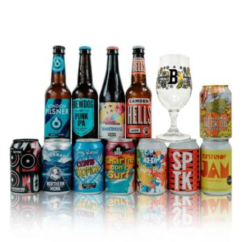 British Best Craft Beer Mixed Case with Glass (12 Pack)