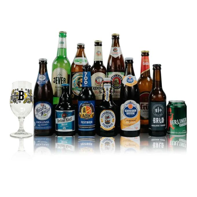 German Breweries Craft Beer Mixed Case with Glass (12 Pack)