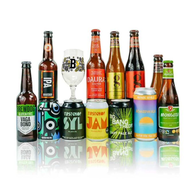 Gluten Free & Vegan Craft Beer Case Gift Set with Glass (12 Pack)