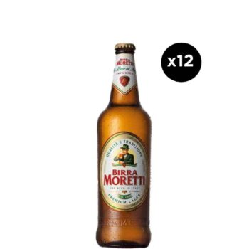 Birra Moretti Bottle (12 Pack)