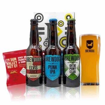 Brewdog Craft Beer Case Gift Set With Official Branded Glass (3 x 330ml Bottles)