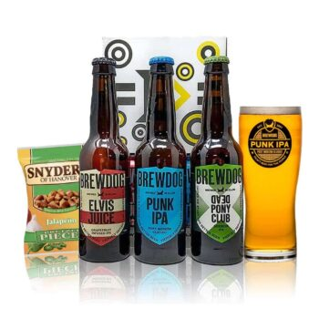 Brewdog Gift Set with Official Glass (3 x 330ml Bottles)