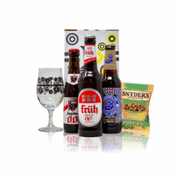 Alcohol Free Mixed Beer Gift Set with Branded Glass (3 Pack)