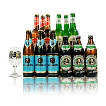 German Breweries Premium Lager Mixed Case with Glass (12 Pack)
