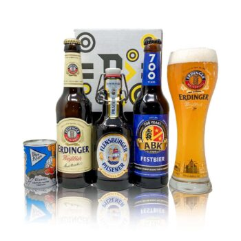 Introducing Beer Hunters German breweries beer gift pack featuring some of the finest beverages Germany has to offer handpicked by our in-house experts along with mouthwatering pretzel bites and an official Beer Hunter drinking glass.