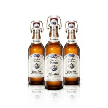 Hacker-Pschorr Weissbier has a cloudy appearance, characteristic of wheat beer. The result is a taste that is authentic and perfect all year-round