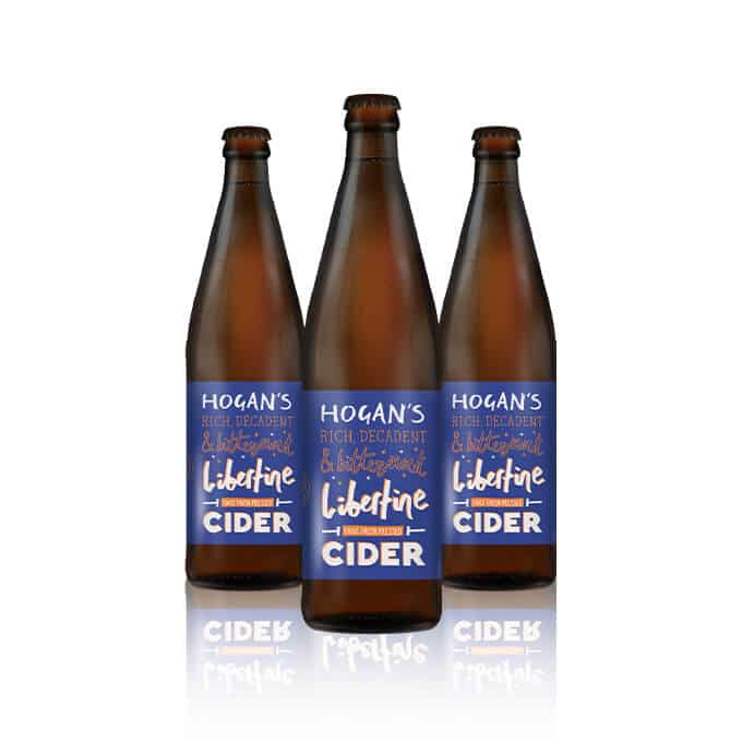 Hogan's Libertine Cider is a indulgent, sweetly satisfying cider. This cider has won 4 international gold medals over the years together with Best in Class.