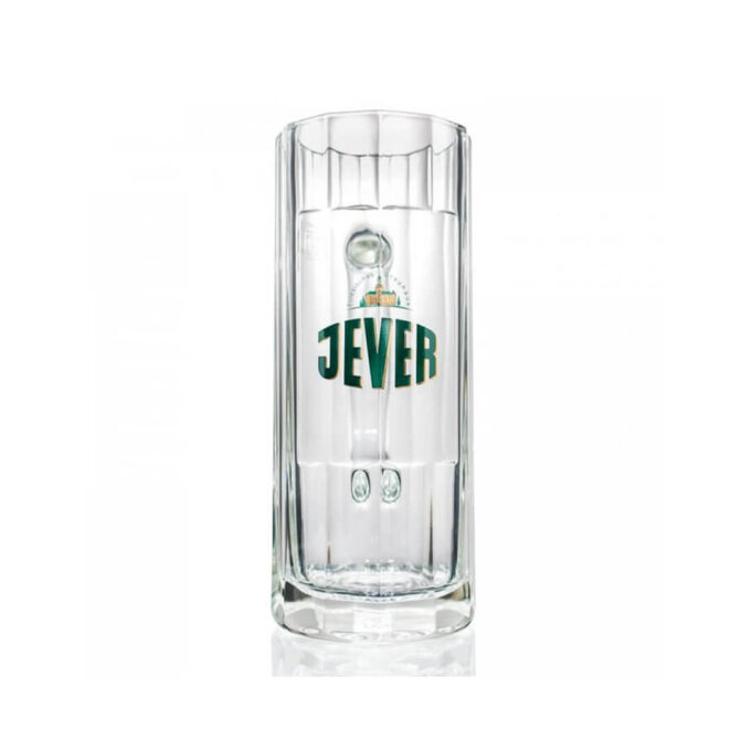 Official Jever tankard, the perfect glass to enjoy a pint of your favourite German pilsner. What better way to drink Jever than with the Tankard it was always meant to.