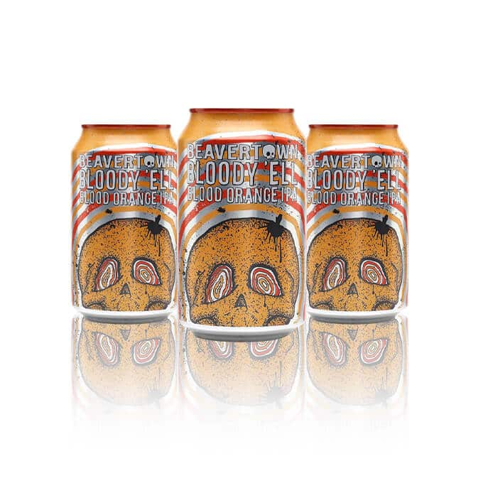 Beavertown's Blood orange IPA, Bloody 'Ell has a smooth taste with a hint of orange. IPA malt bill and highly hoppy and piled on with kilos of Blood Orange.