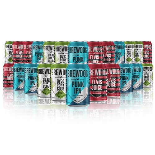 Brewdog is all about, Dead Pony Club, Elvis Juice & the godfather of Brewdog their signature Punk IPA. Get it all in this Mixed Case.