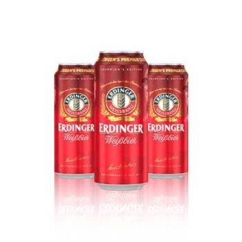 Erdinger Weissbier is the classic wheat beer, packed with flavour and a Jurgen Klopp favourite. Hurry there is only limited stock available.