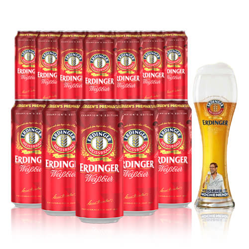 Erdinger Weissbier is the classic wheat beer, packed with flavour and a Jurgen Klopp favourite with the Klopp Pint Glass.