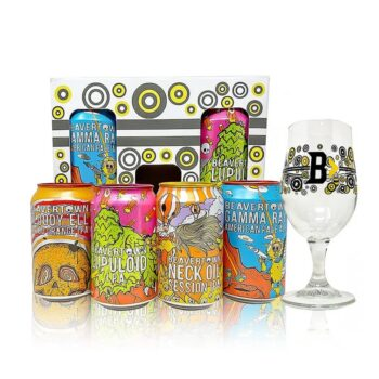 Beavertown 4 Can Gift Pack With Glass