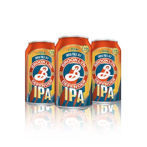 Brooklyn Brewery Defender IPA is by your side no matter the pursuit. Strong notes of tropical fruit, keen hop bitterness and an dry finish.