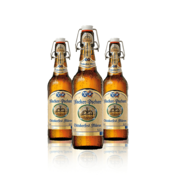 Hacker Pschorr Oktoberfest Limited Edition Märzen Beer 500ml Bottles. Forbidden as it was to brew in summer, a stronger beer – the Märzen...