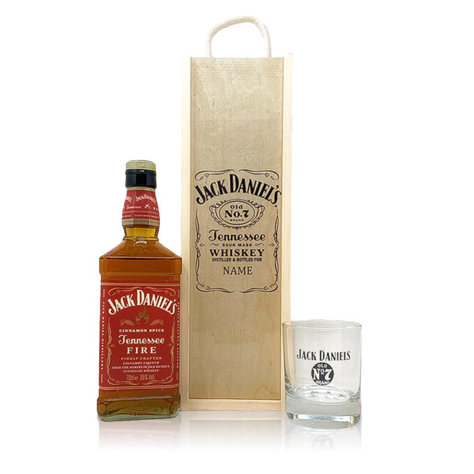 Personalised Jack Daniels Fire with Branded Glass