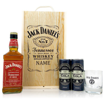 Personalised Jack Daniels Fire with Cola & Glass