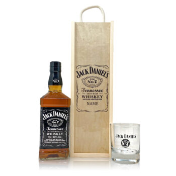 Personalised Jack Daniels No7 with Glass