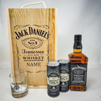 Jack Daniels double wooden spirits personalised gifts