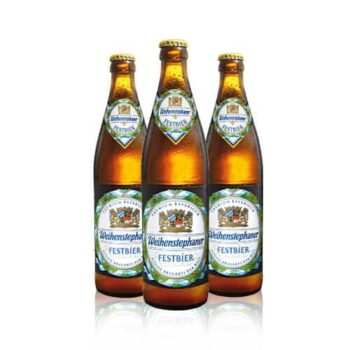 Weihenstephaner Festbier is tailor-brewed for Germany's famous Oktoberfest in Munich. This Weihenstephaner lager pours a deep gold.