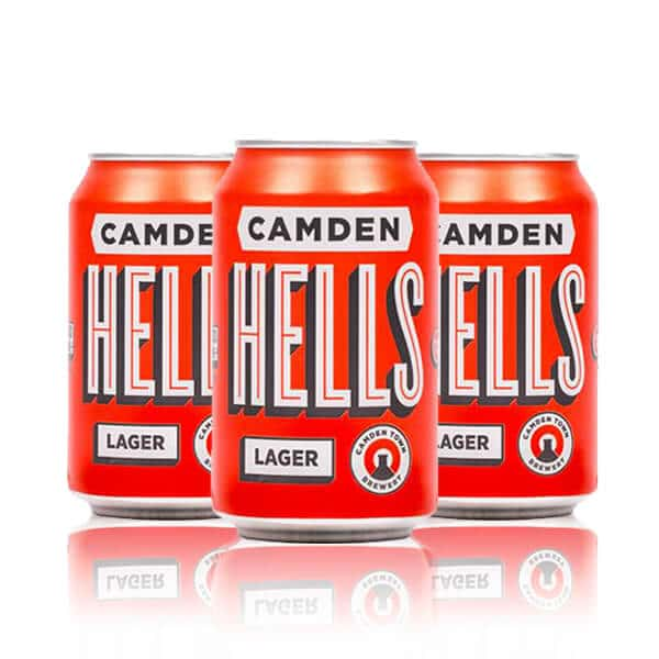 camden hells lager cans
