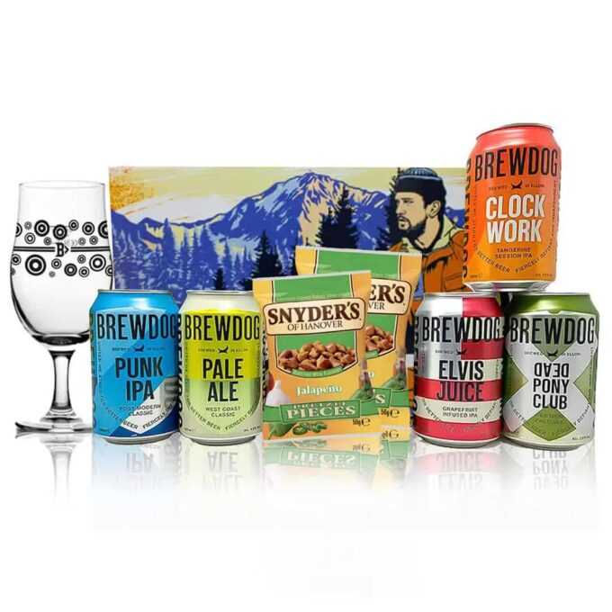 Brewdog Craft Beer 5 Can Gift Pack with Glass