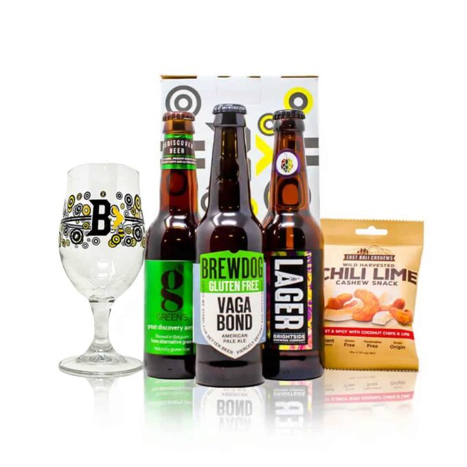 Gluten Free Beer Gift Set with Branded Glass (3 Pack)