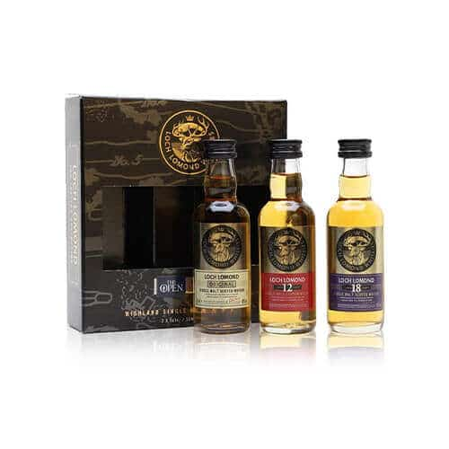 This Loch Lomond Miniature Gift Set taster set takes you on a well-rounded journey, with flavours ranging from light and sweet.