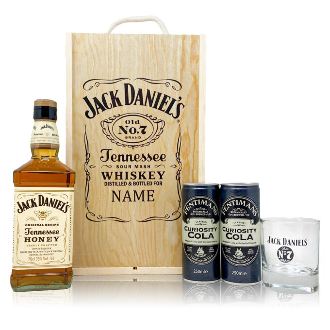 Personalised Jack Daniels Honey with Cola & Glass