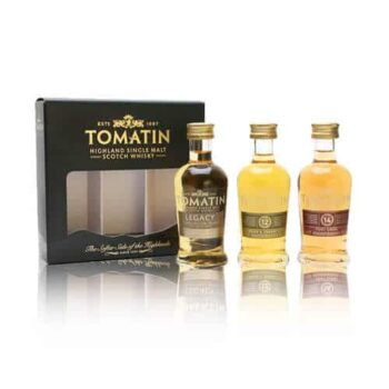 The Tomatin Gift Miniatures gift set includes three of the core range from Tomatin. All in wonderful little taster size bottles.
