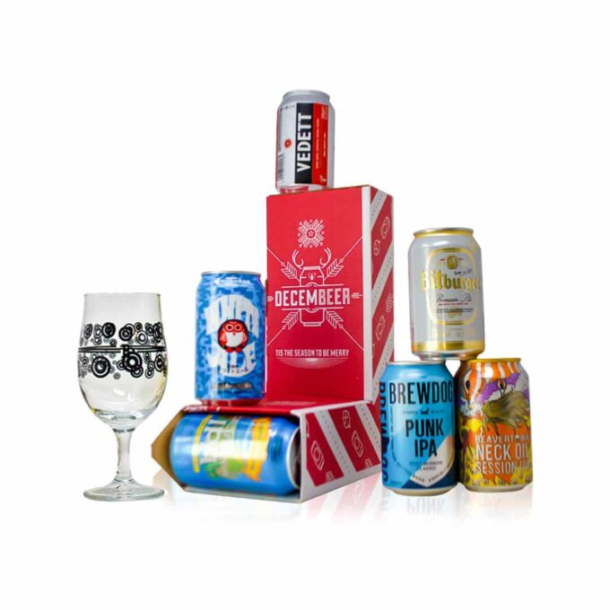 This World Craft Beer Christmas Can-dy Cane contains six craft beers from across the World. Of all different styles and flavours.