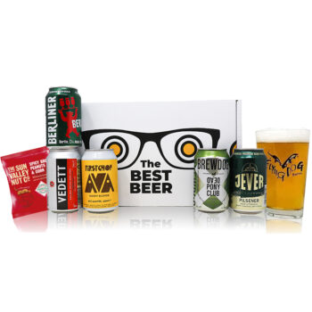 World Craft Beer 5 Can Gift Pack with Glass