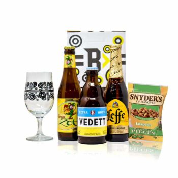 Introducing Beer Hunters Belgian beer gift pack featuring some of the finest Belgian beer beverages with drinking glass.