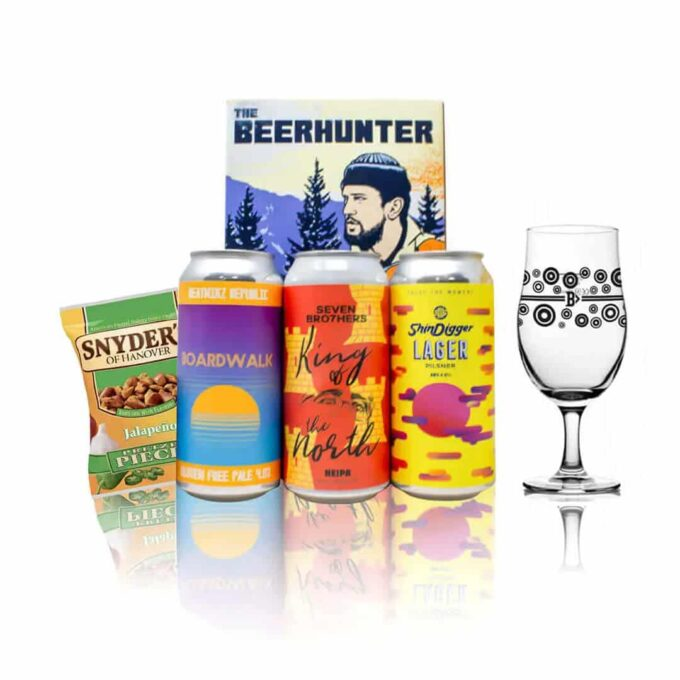 Limited Edition Brian Cannon Designed Manchester Craft Beer 3 Can Gift Pack with Glass