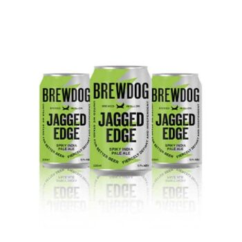 Displaying a bitterness through the use of new world hops, Brewdog Jagged Edge is awash with pithy, sticky hop characteristics.