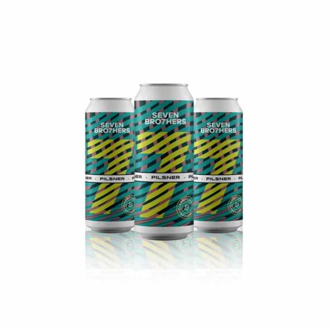 This Seven Bro7hers Pilsner is a clean, light coloured, refreshing Pilsner style lager bursting with hops and moderately sweet malty tones.