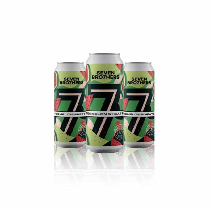 Seven Bro7hers watermelon wheat beer is a light, refreshing wheat beer with watermelon, strawberry and pineapple flavours.