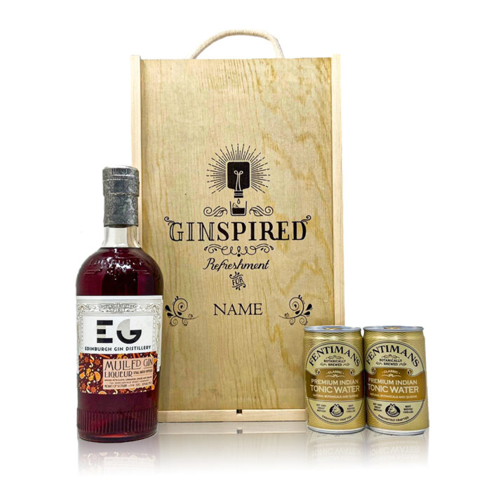 Personalised Edinburgh Mulled Gin Liqueur with Tonics