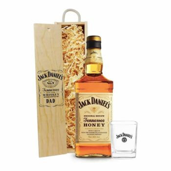 Personalised Jack Daniels Honey with Glass