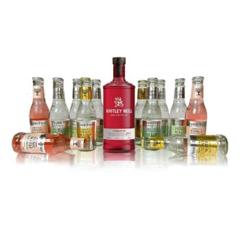 This Premium Whitley Neill and Fever-tree Gin & Tonic Kit contains a 70cl bottle of premium Raspberry Gin as well as 12 fever tree tonics.