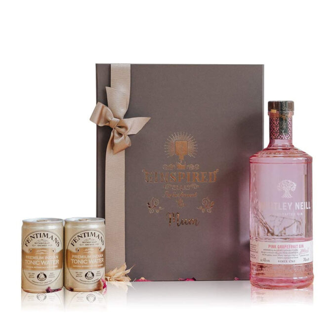 Whitley Neill Pink Grapefruit Gin Gift Set with Fentimans Tonics for Mum