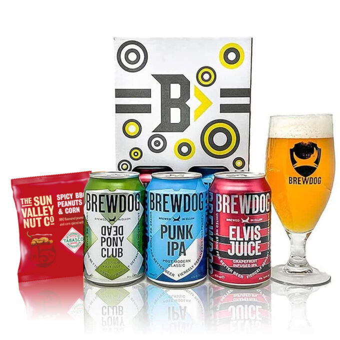 Brewdog Craft Beer Case Gift Set With Official Branded Glass (3 x 330ml Cans)