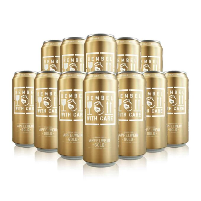 Bembel with Care Apfelwein Cider Gold 500ml Cans (12 Pack)