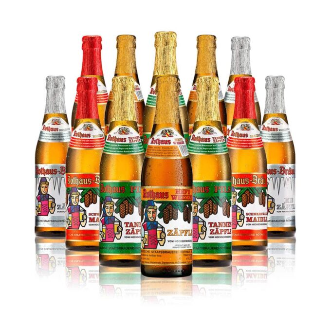 Rothaus Brewery German Beers Mixed Case 330ml Bottles (12 Pack)