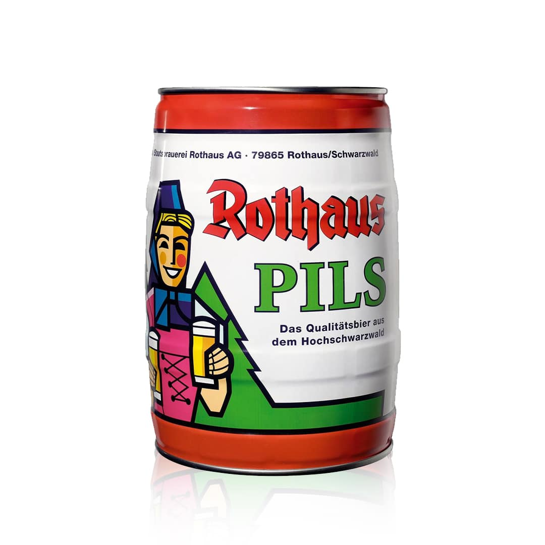 Rothaus German Pils 5 Litre Mini Keg is recognised as a leading example of a traditional German Pilsner, with a cult following.