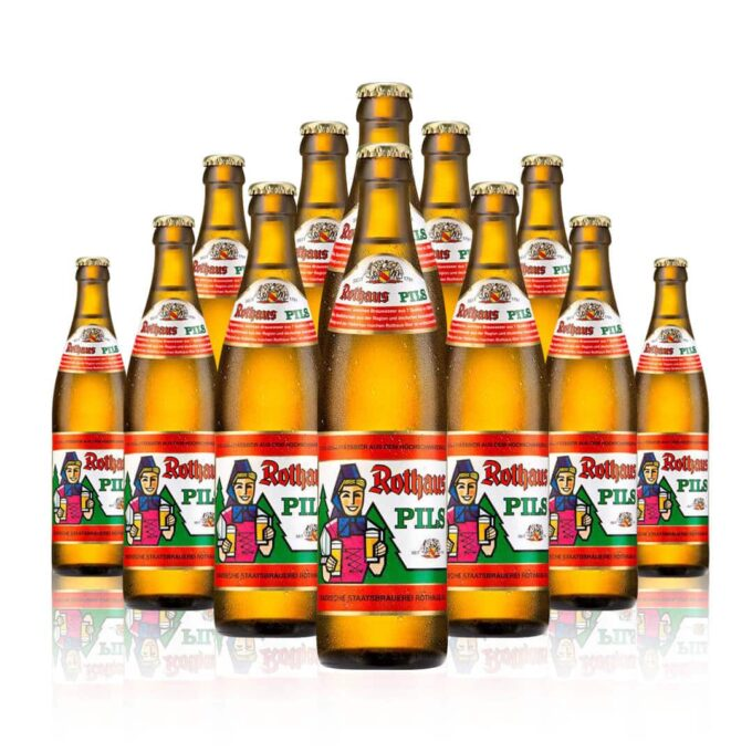 Rothaus German Pils 500ml Bottles, is a beer with a cult following. Rothaus is indeed a stunning example of clean lager brewing.