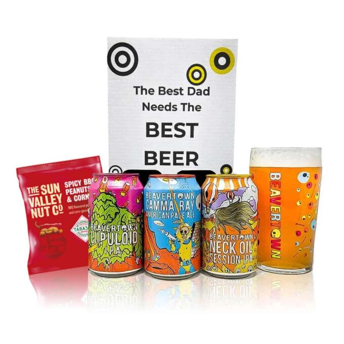 Beavertown Brewery Father's Day Gift Set with Official Skull Pint Glass