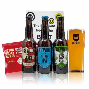 Brewdog Father's Day Gift Set with Official Glass (3 x 330ml Bottles)