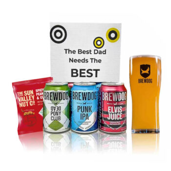 Brewdog Father's Day Gift Set with Official Glass (3 x 330ml Cans)